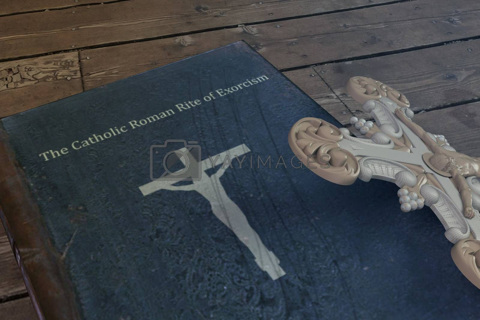 exorcism book on wooden floor by lamianuovasupermail@gmail.com