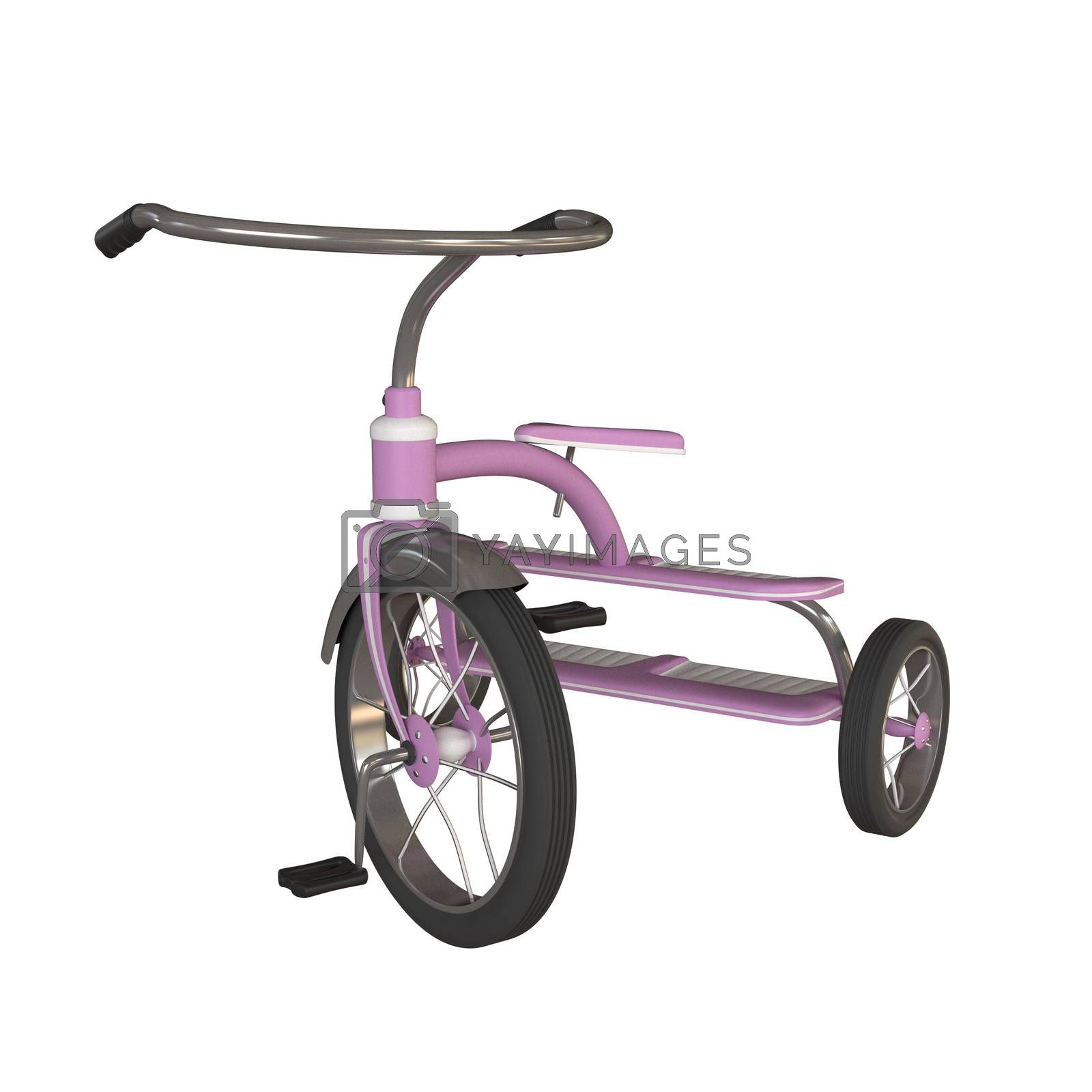 tricycle isolated on white by lamianuovasupermail@gmail.com