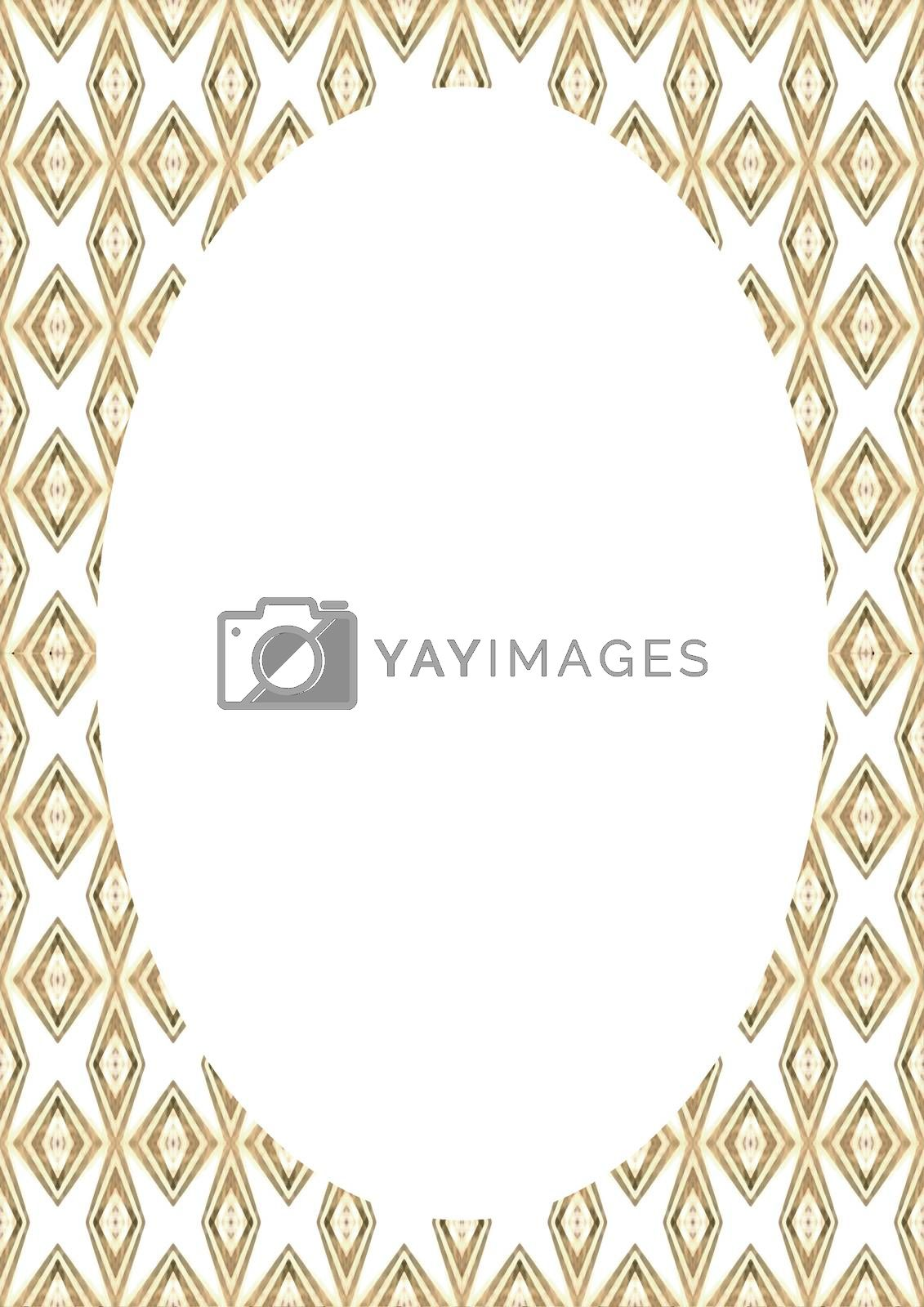 Empty Frame with Patterned Decorative Rounded Borders by DanFLCreative