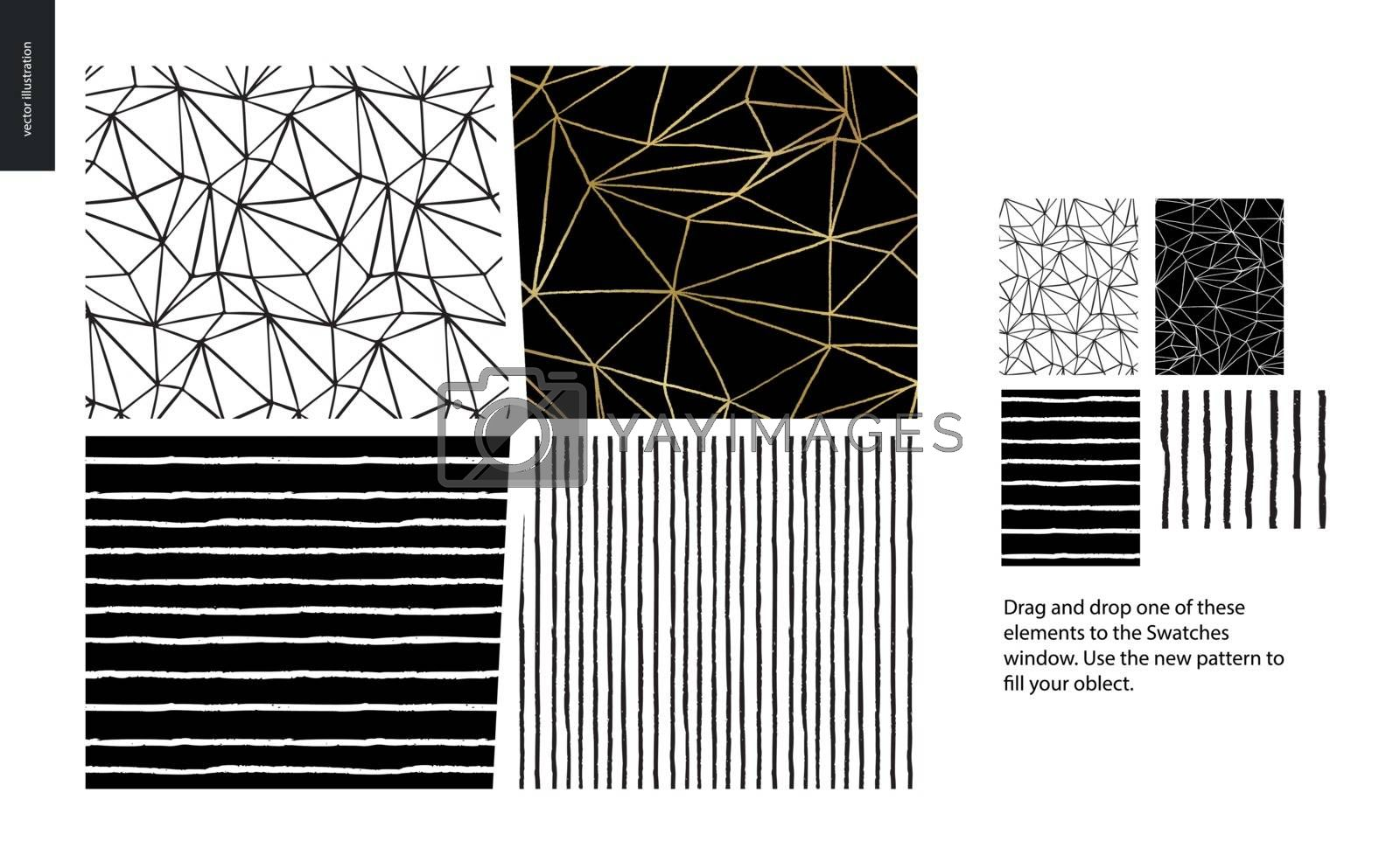 Hand drawn Patterns - pieces by grivina