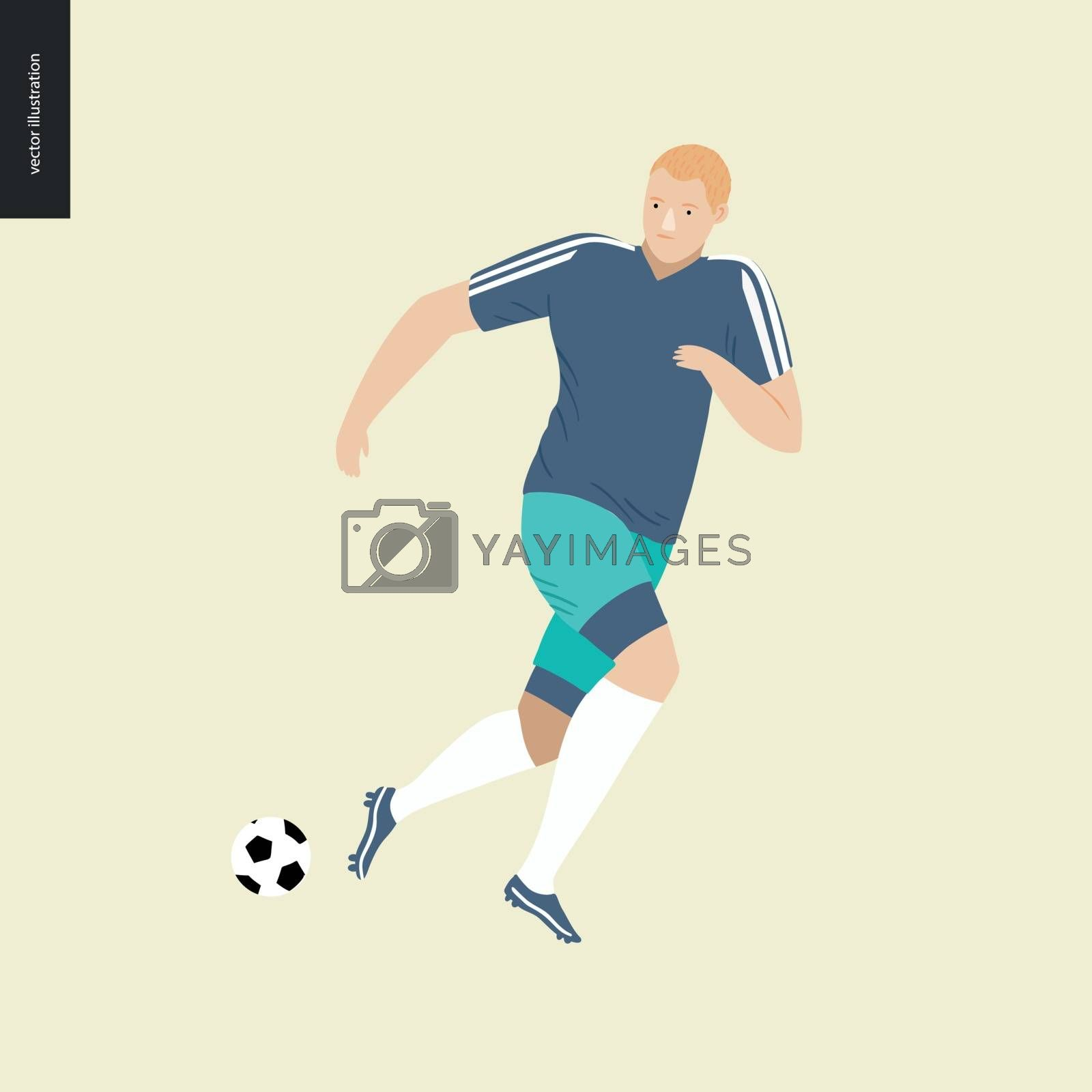 European football, soccer player by grivina
