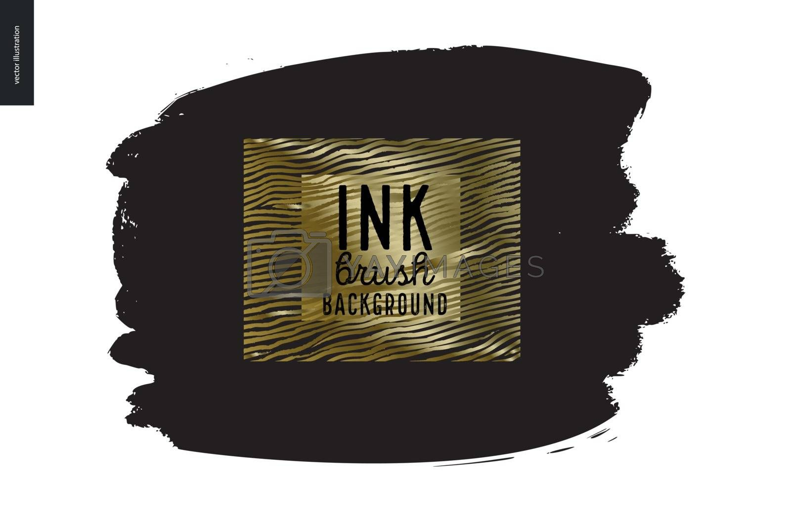 Ink Brush Background by grivina