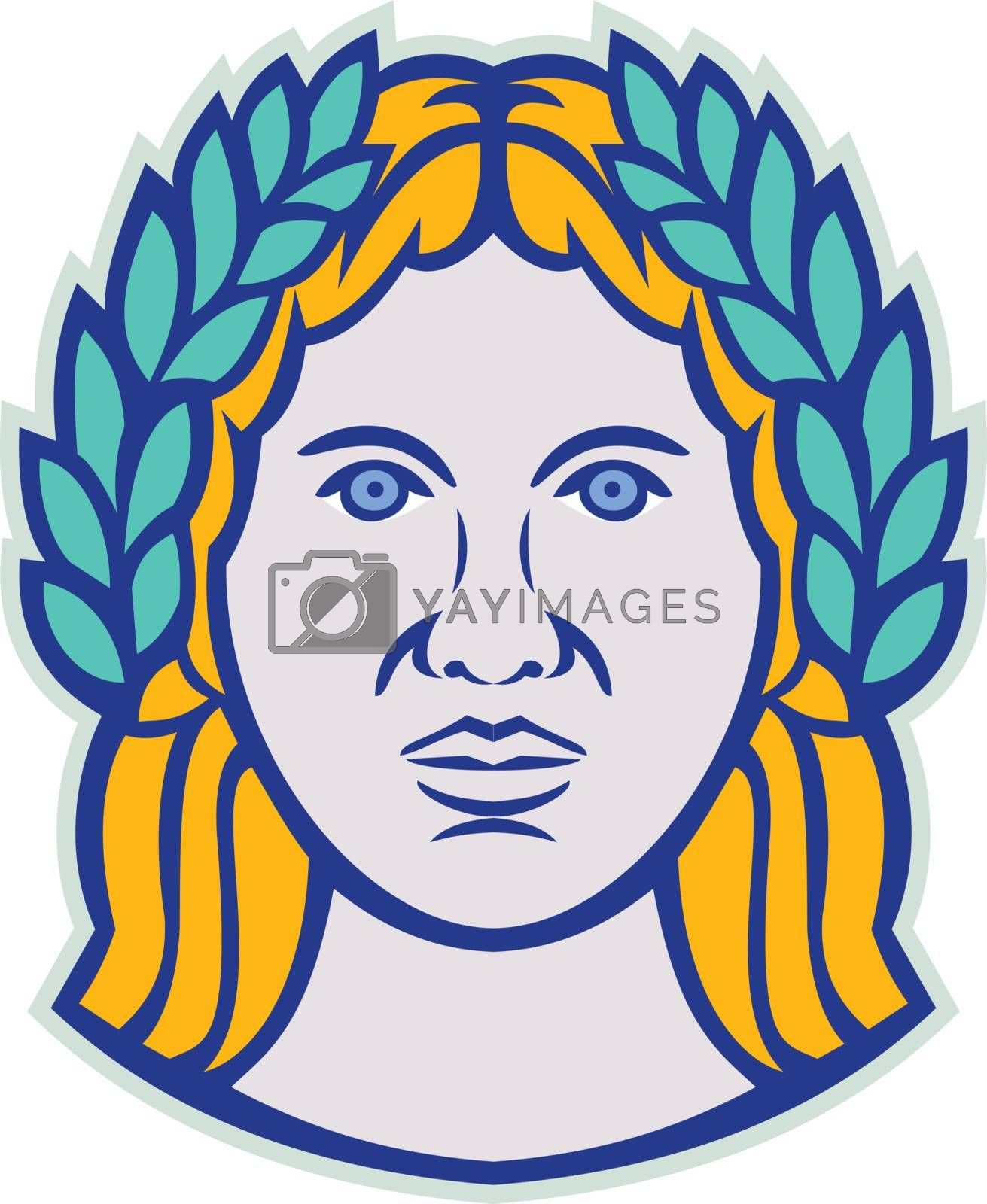 Ceres Roman Agricultural Deity Mascot by patrimonio
