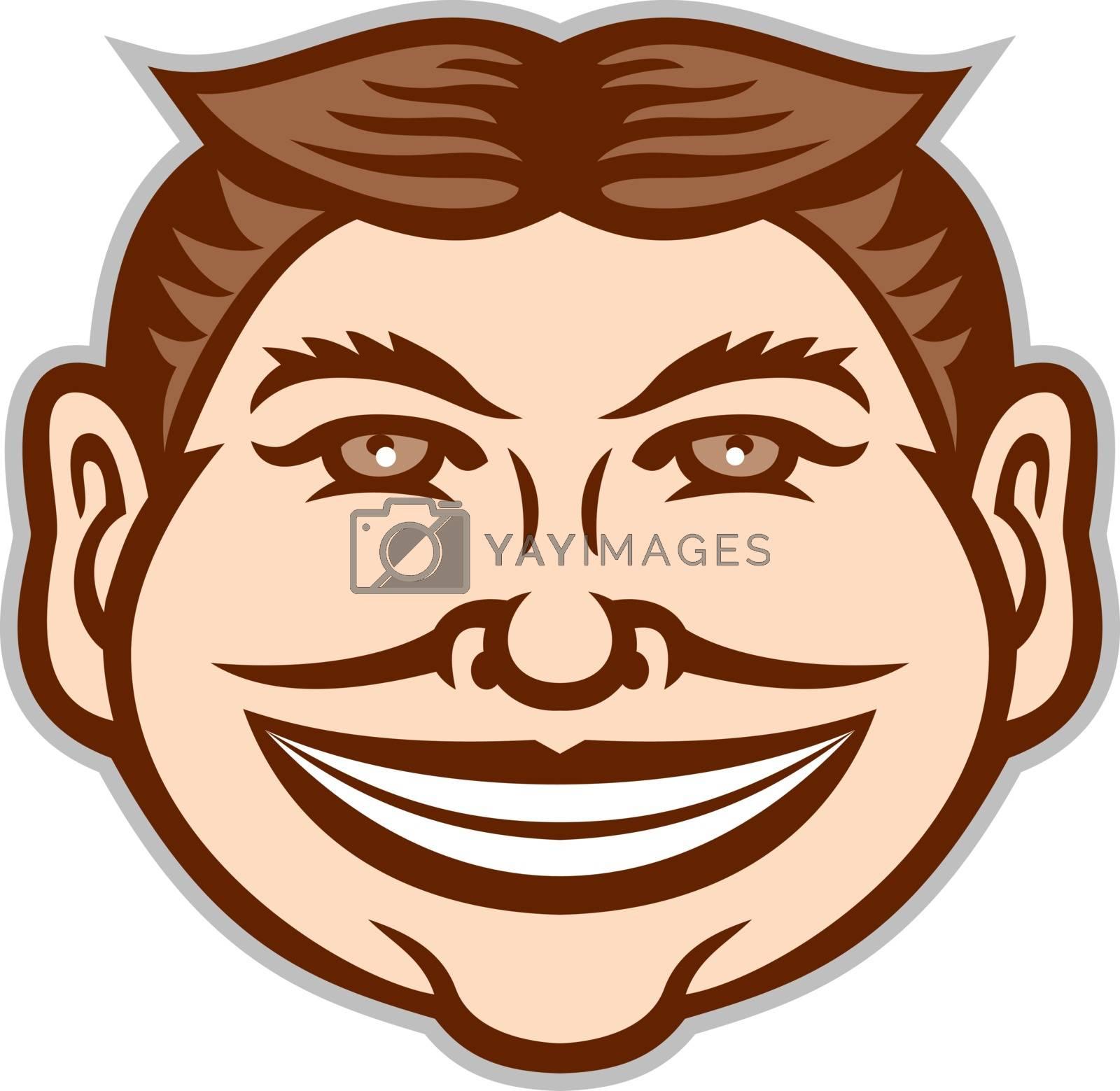 Funny Face Front Icon Retro by patrimonio
