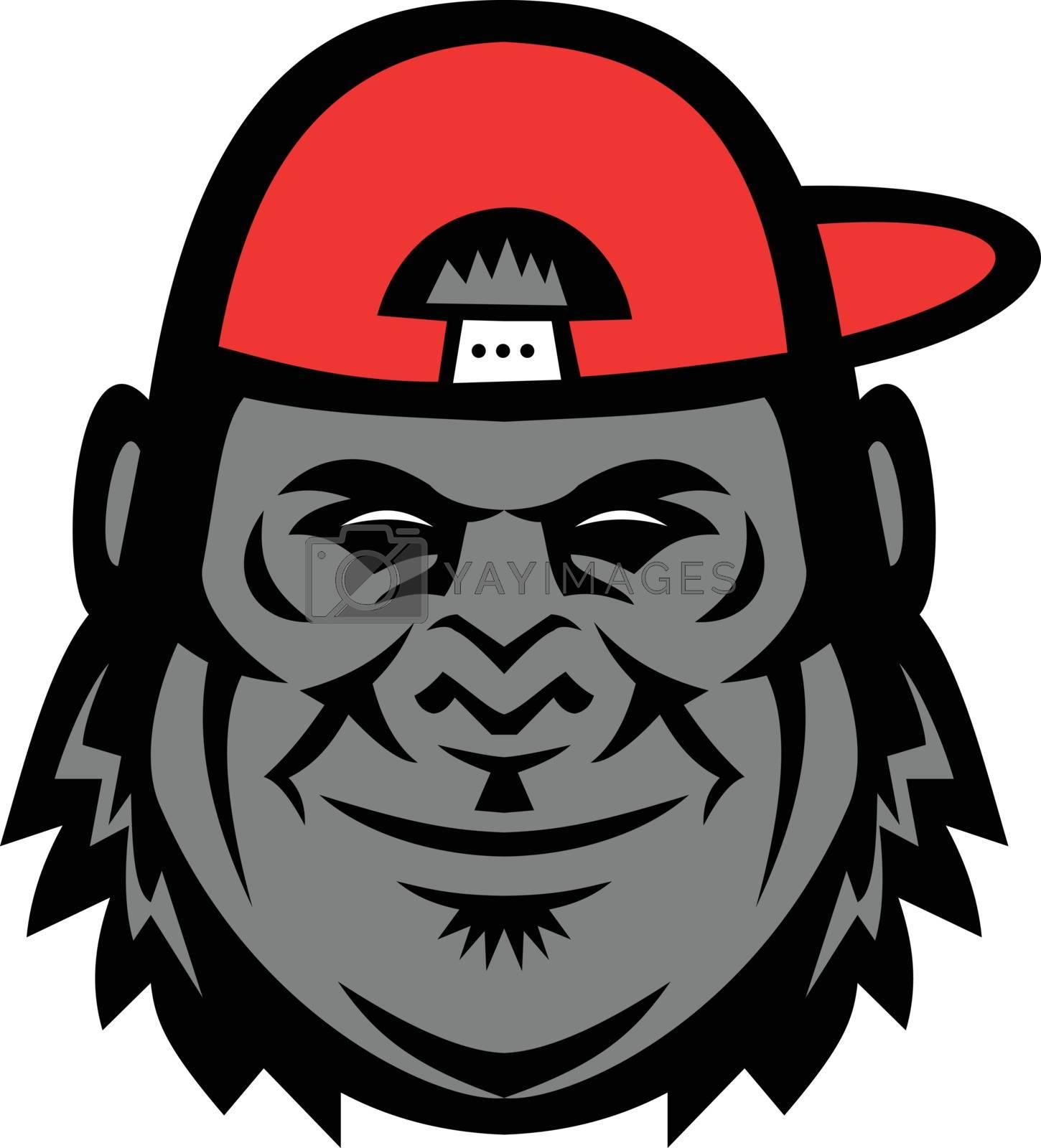 Gorilla Wearing Cap Mascot by patrimonio