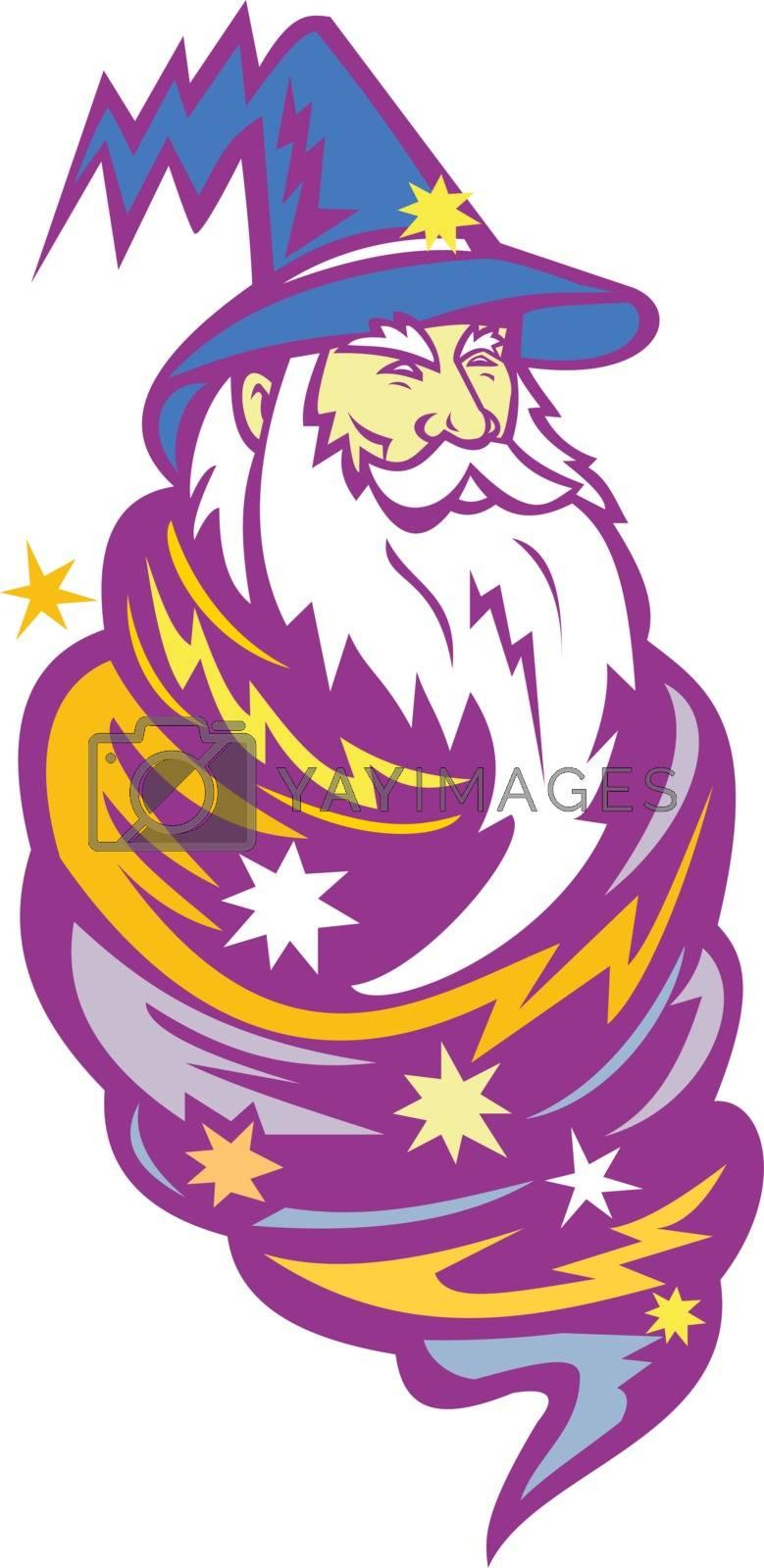 Wizard Tornado Mascot by patrimonio