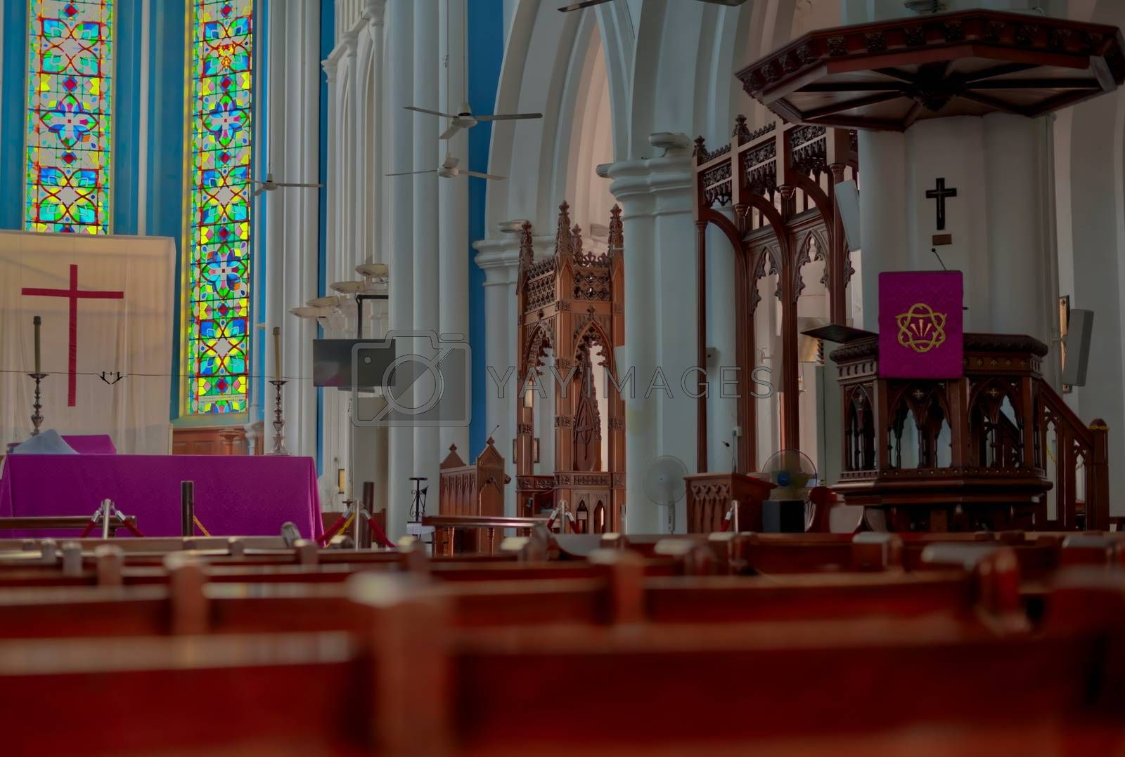 Saint Andrew s Anglican Cathedral Singapore by Louis Villedieu
