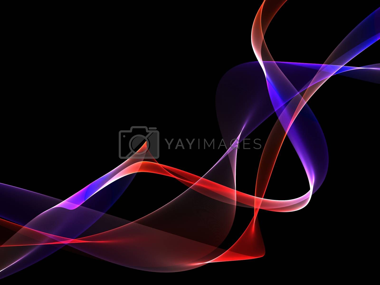 Dark abstract background with a glowing abstract waves by Teerawit Tj-rabbit