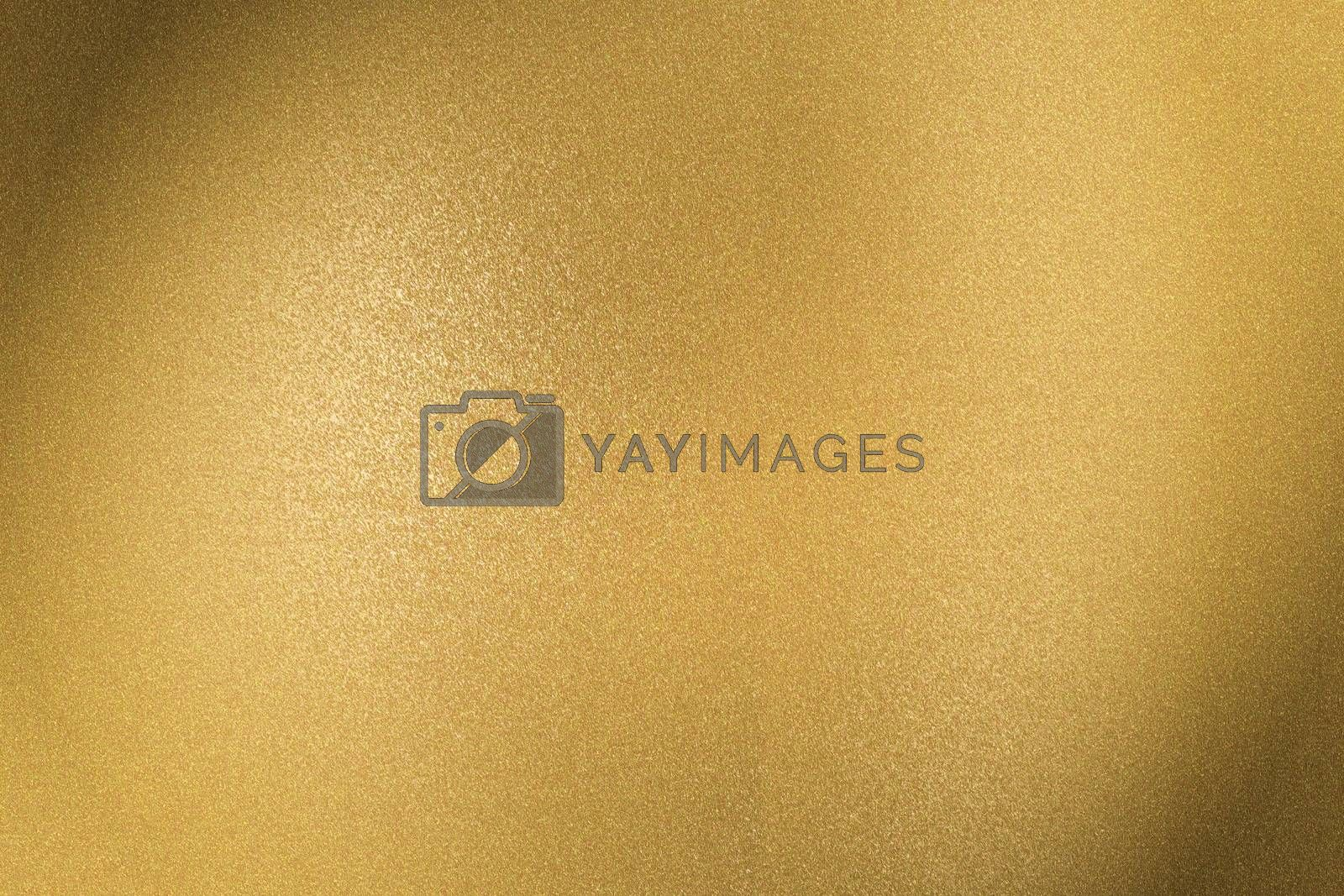Brushed golden metal sheet surface, abstract texture background by mouu007