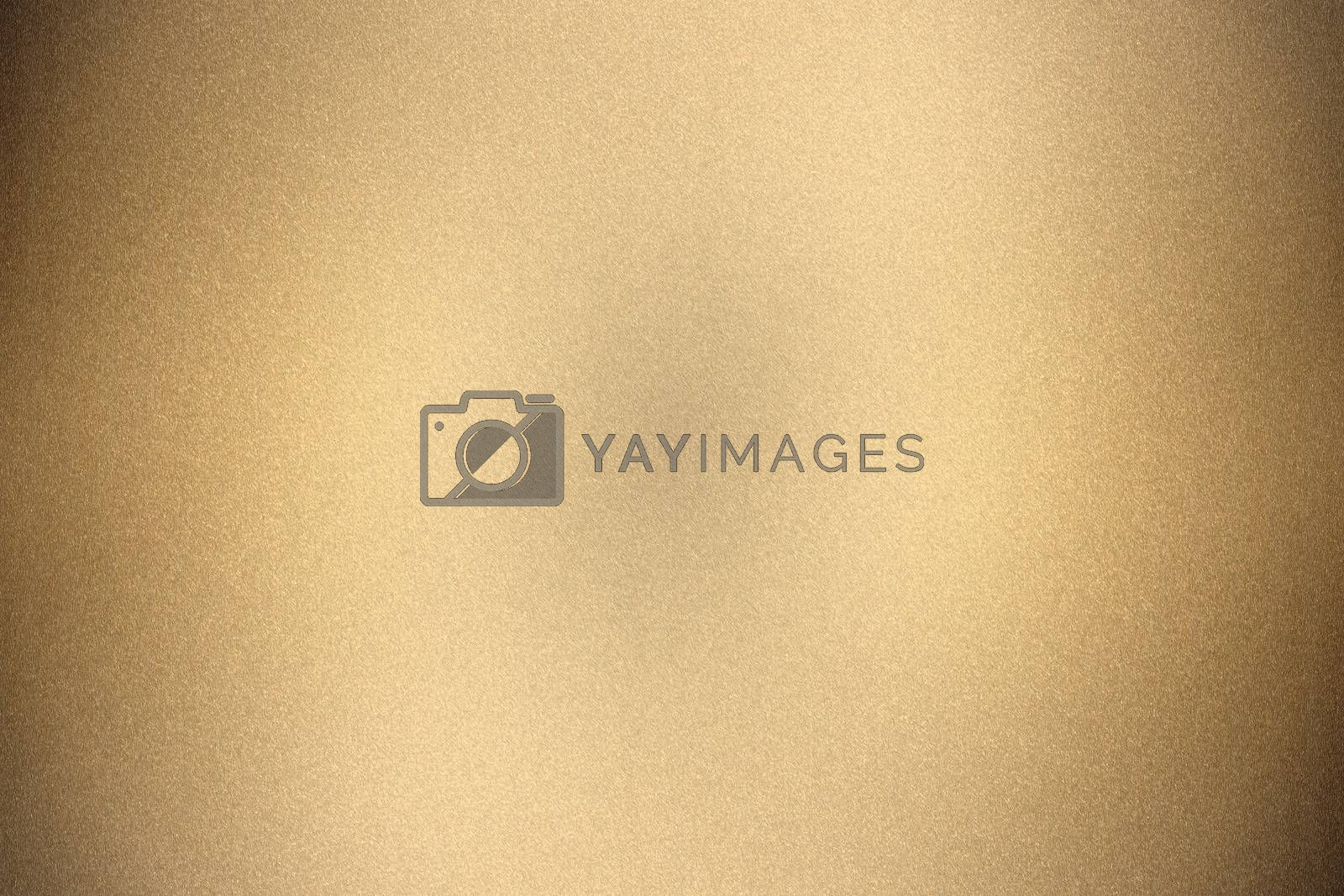 Brushed brown metal wall surface, abstract texture background by mouu007