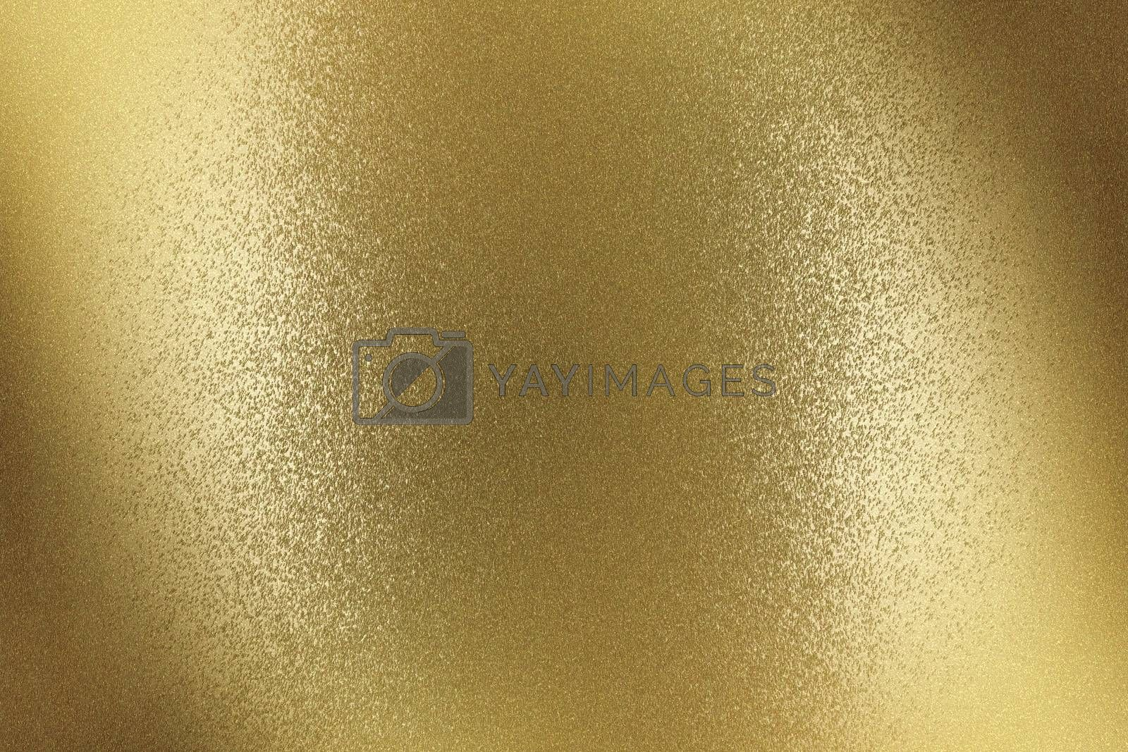 Glowing brushed bronze metal wall surface, abstract texture background by mouu007