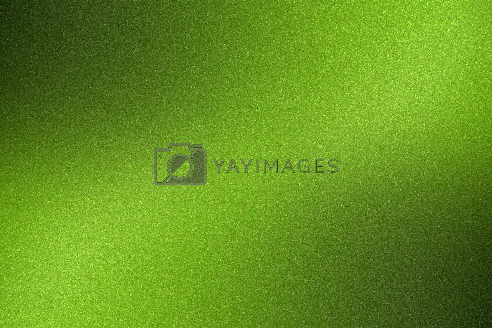 Glowing brushed green metal wall surface, abstract texture background by mouu007