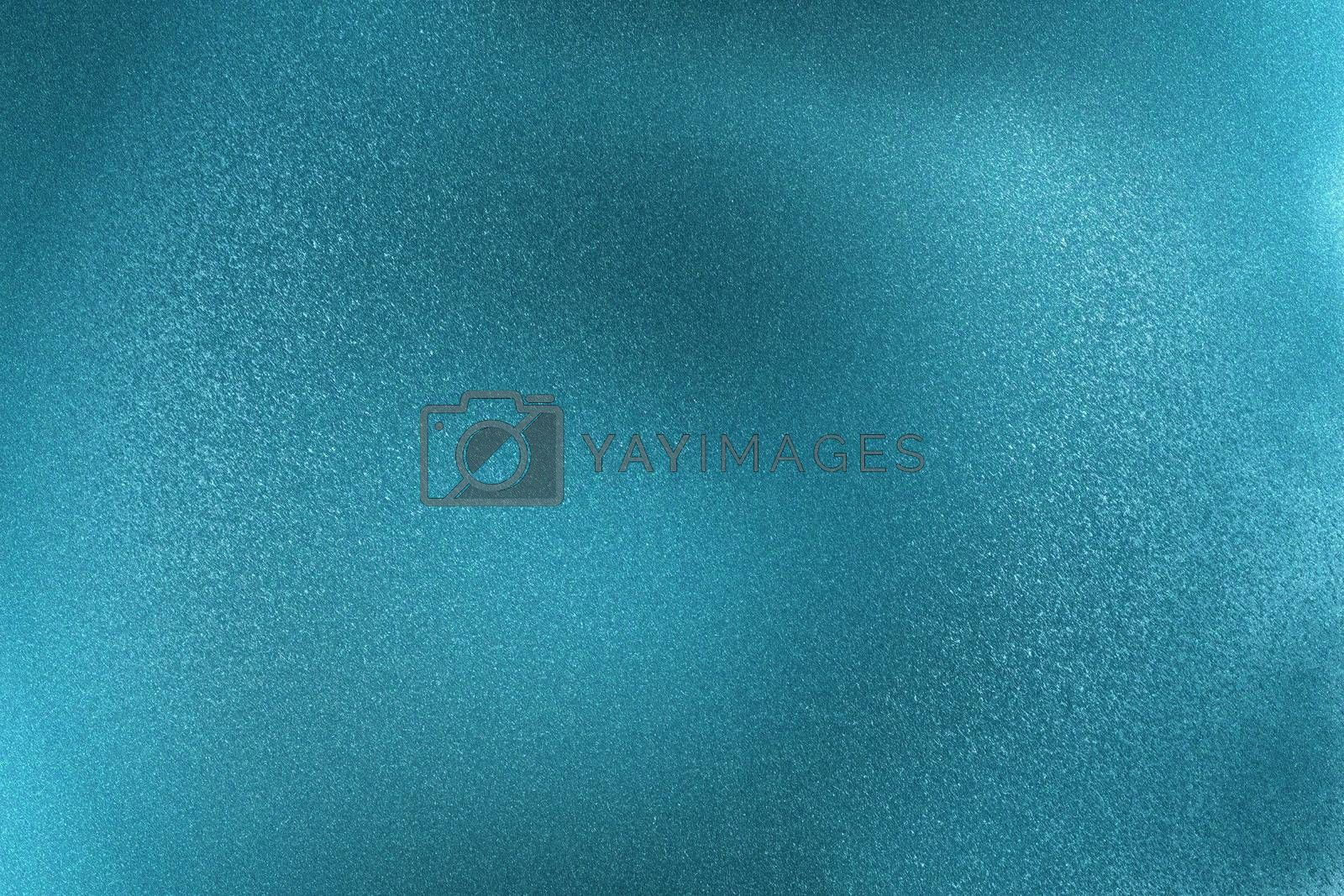 Glowing brushed blue metallic wall surface, abstract texture background by mouu007