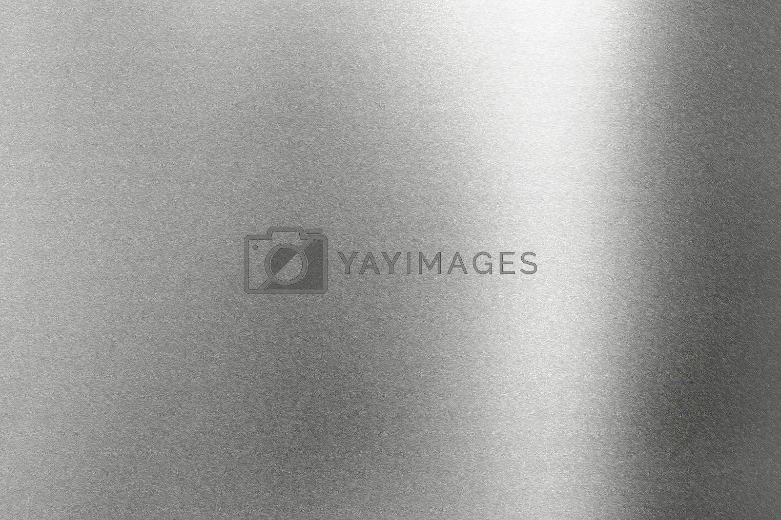 Light shining on rough gray metal wall, abstract texture background by mouu007