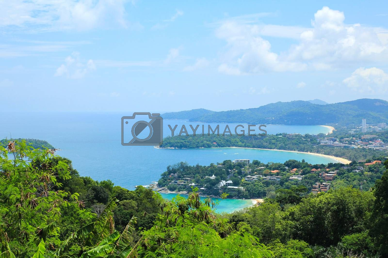 Karon View Point in Phuket ,Thailand. by Nunnicha Supagrit