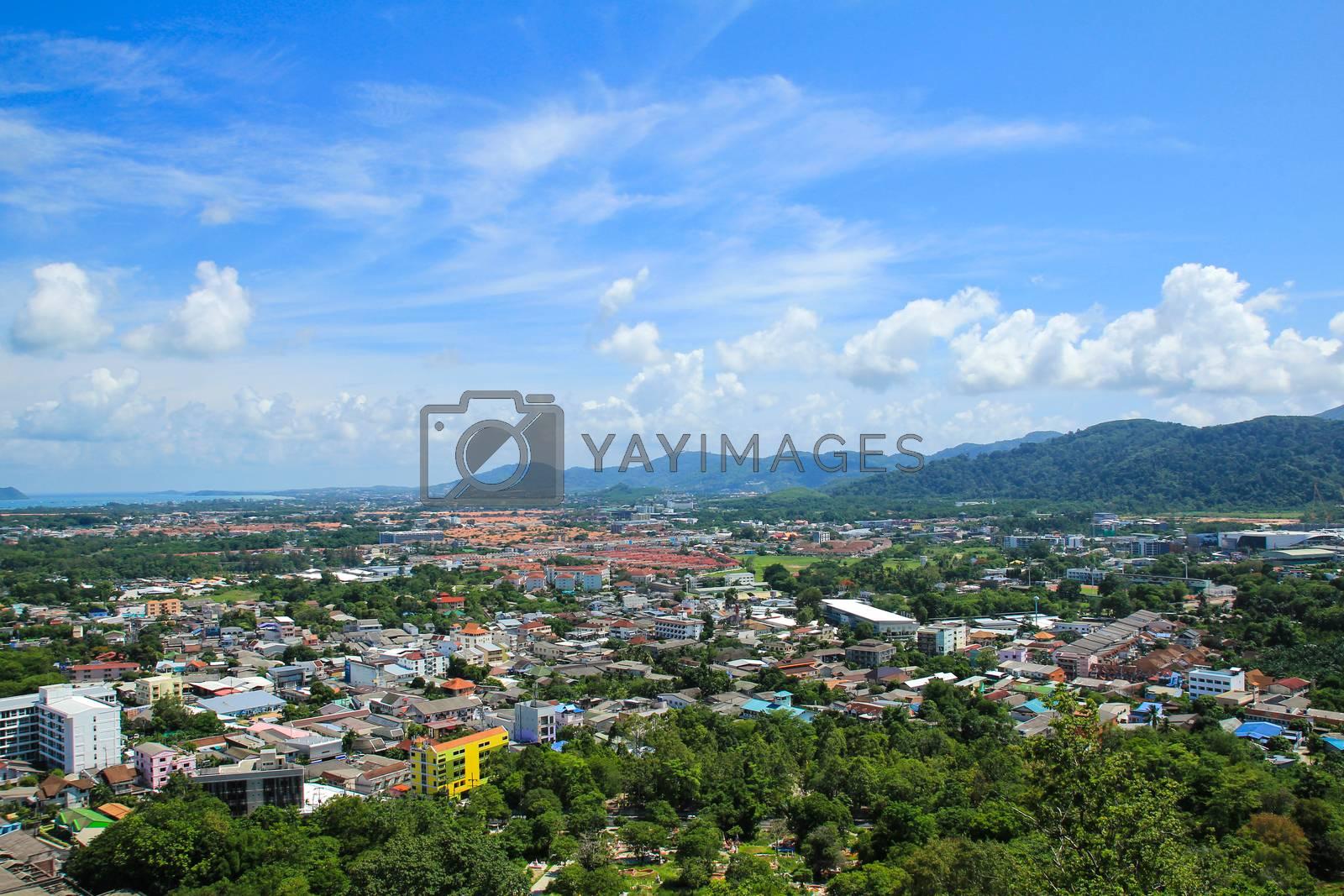 Phuket View Point of Phuket ,Thailand. by Nunnicha Supagrit