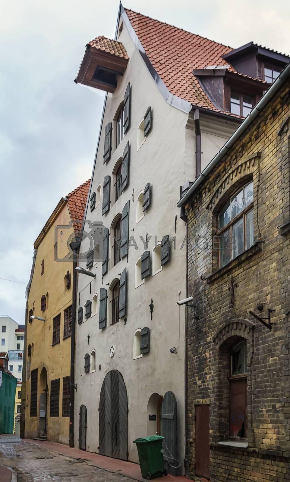 Street in the old town of Riga by borisb17