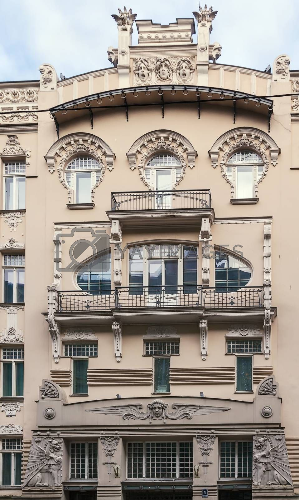 the building in Art Nouveau style, Riga by borisb17