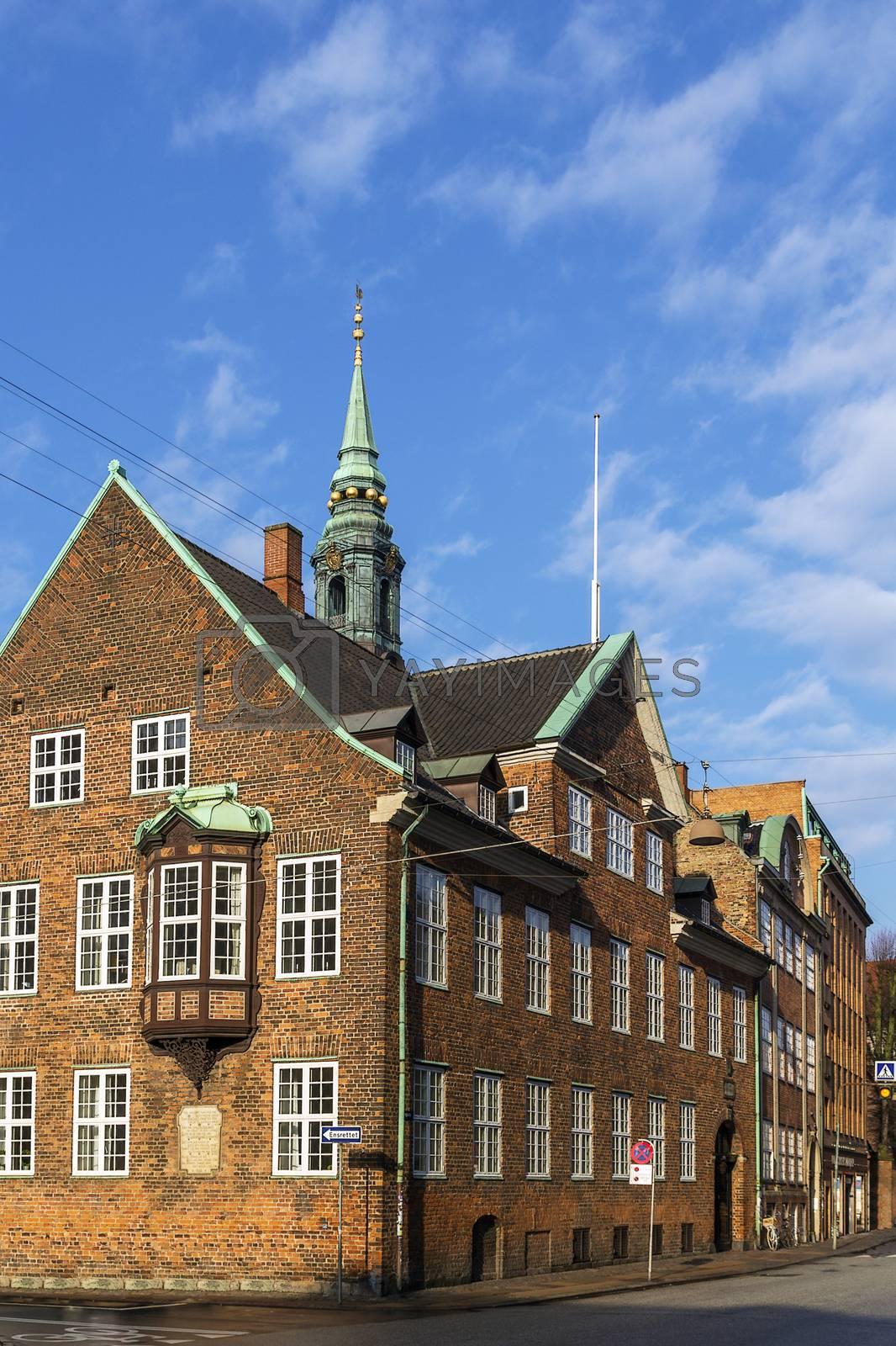 Street in the old town of Copenhagen, Denmark. by borisb17