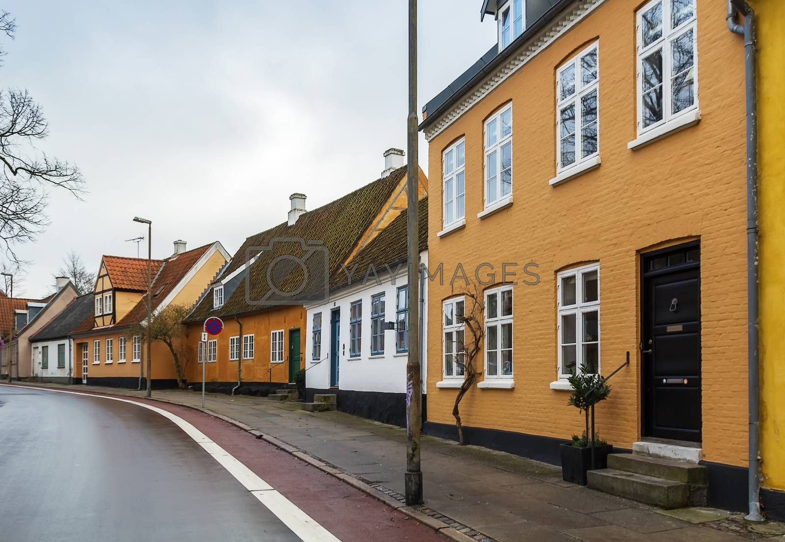 street in  Roskilde, Denmark by borisb17