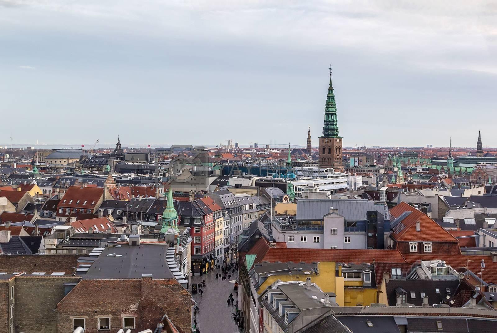 view of the Copenhagen, Denmark by borisb17