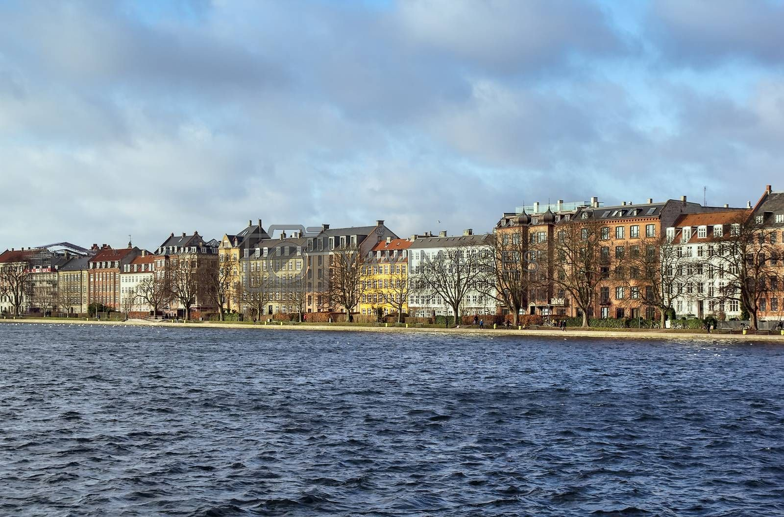 Waterfront Peblinge lake, Copenhagen by borisb17