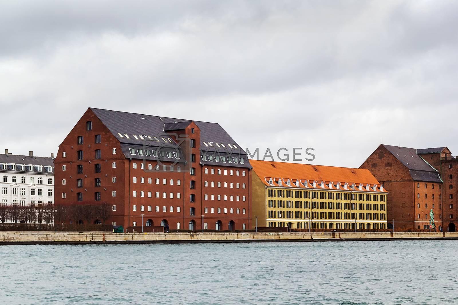 Waterfront of channel, Copenhagen by borisb17