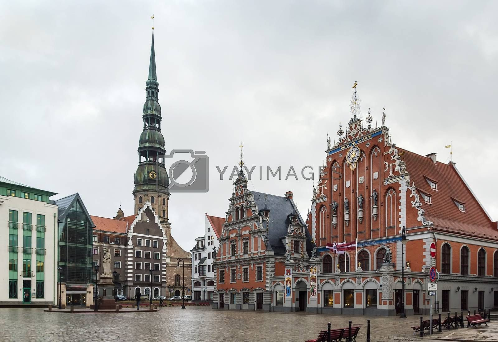 Riga Town Hall Square by borisb17
