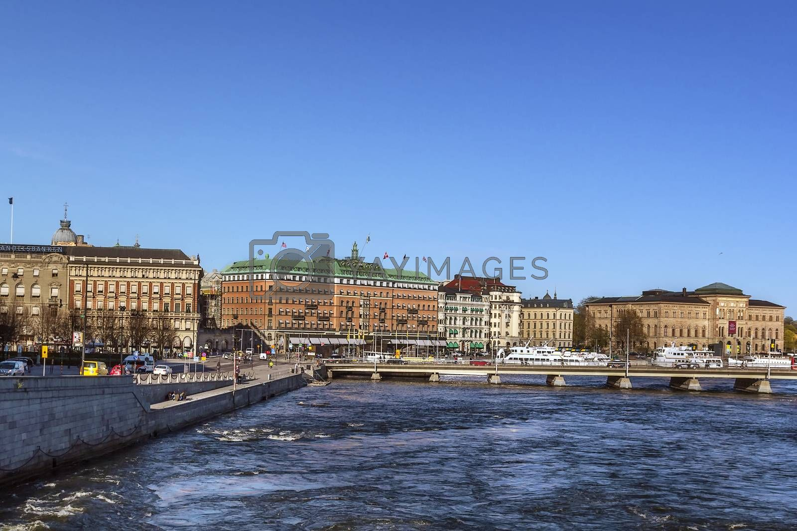 embankment in central Stockholm by borisb17