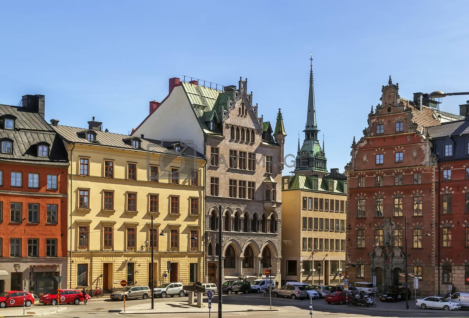Square in Gamla Stan, Stockholm by borisb17