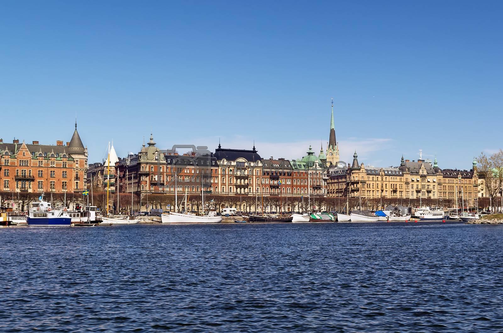 view of Strandvagen, Stockholm by borisb17