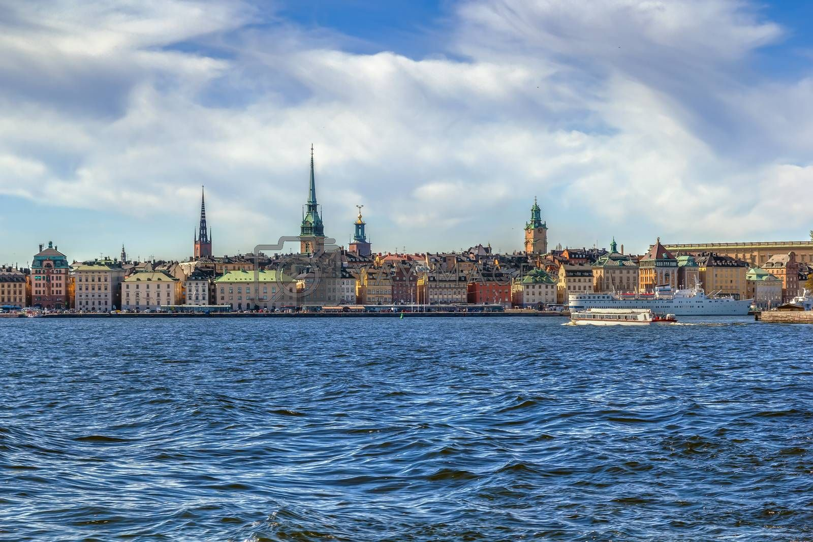 view of Gamla Stan, Stockholm by borisb17