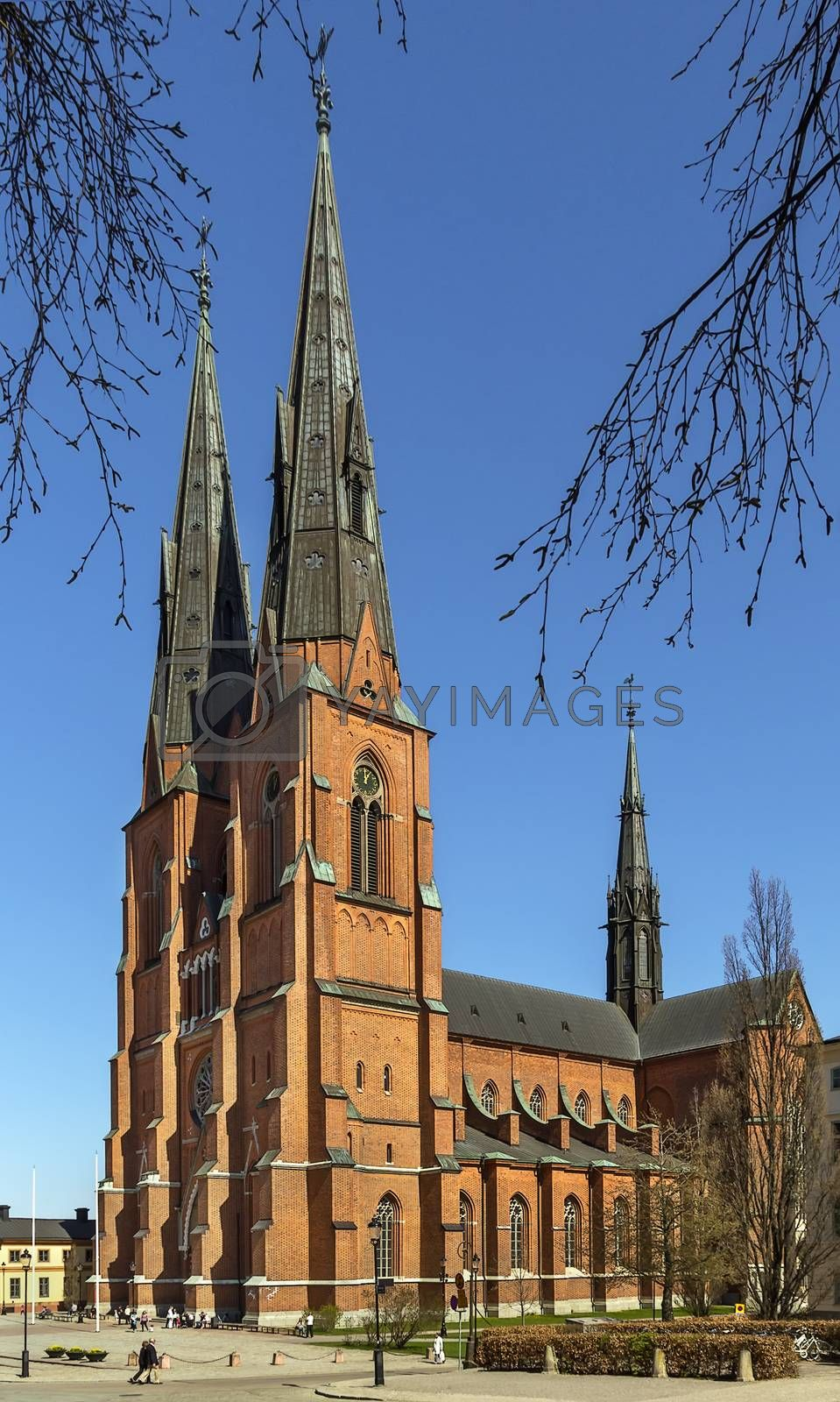 Uppsala Cathedral by borisb17