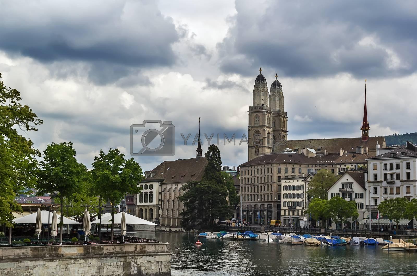 Limmat river in Zurich by borisb17