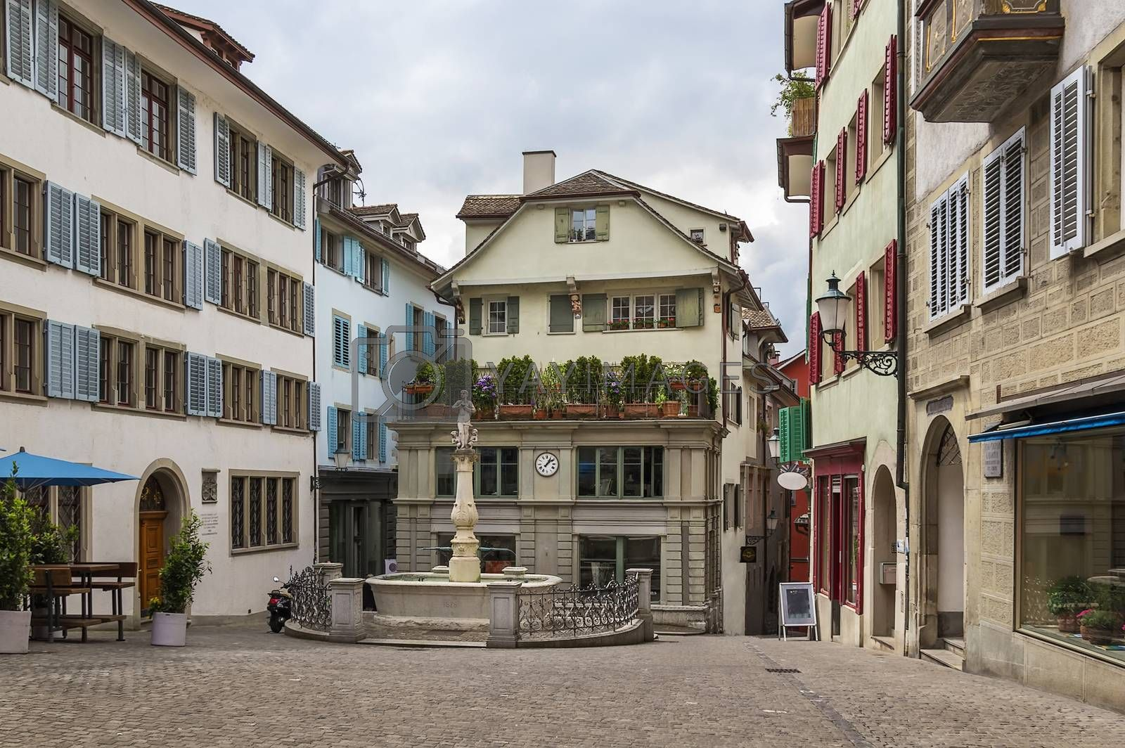 Square in Zurich by borisb17