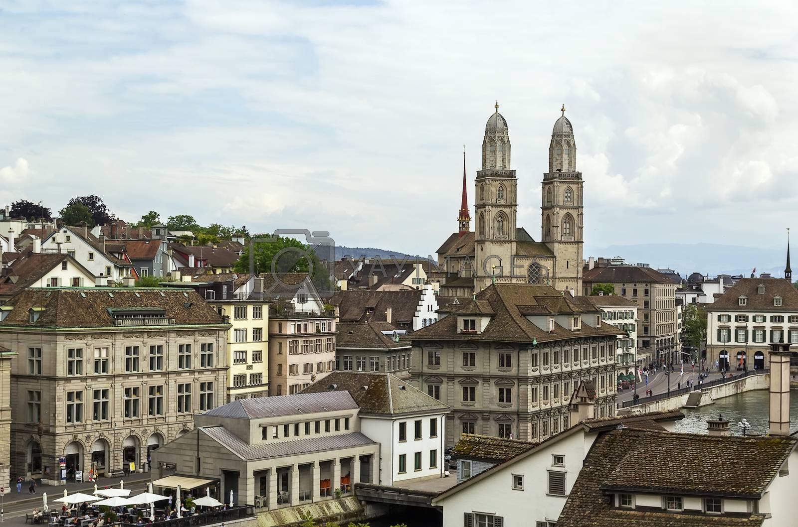 Grossmunster church, Zurich by borisb17