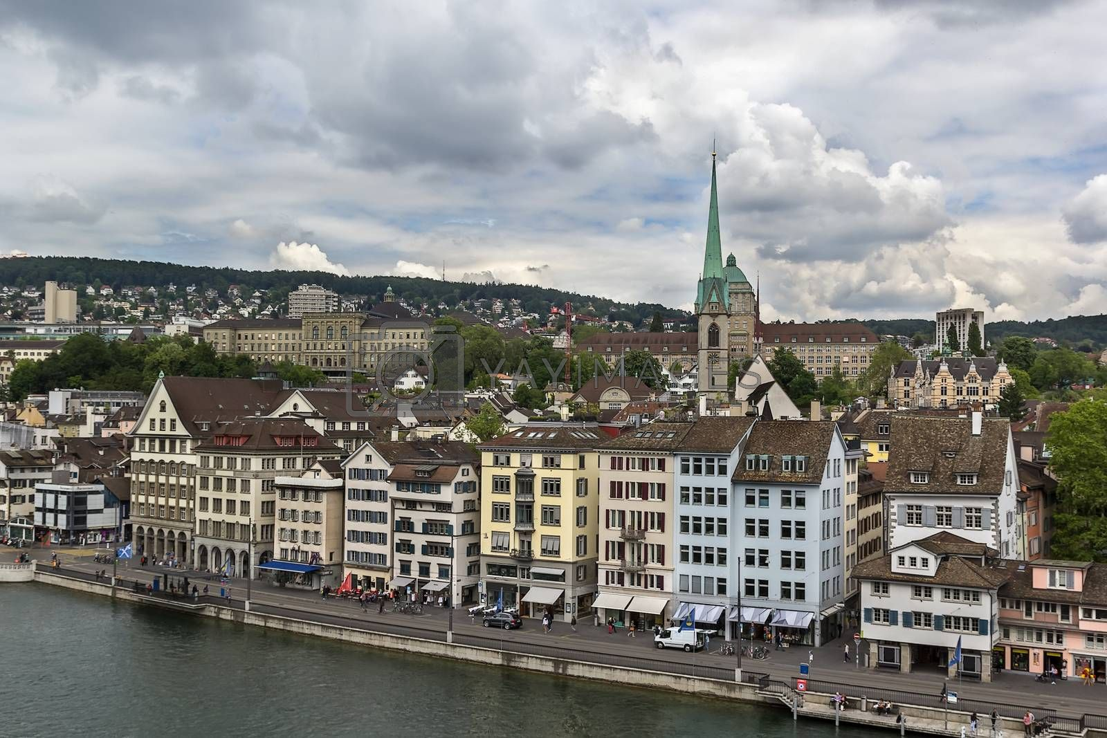 view of Zurich by borisb17