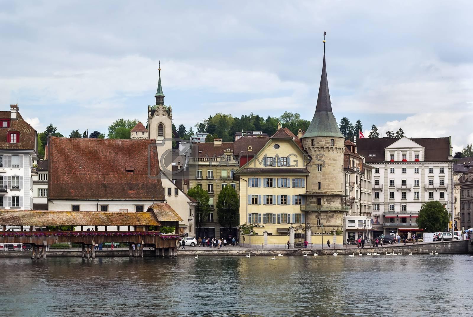 embankment of lake, Lucerne by borisb17