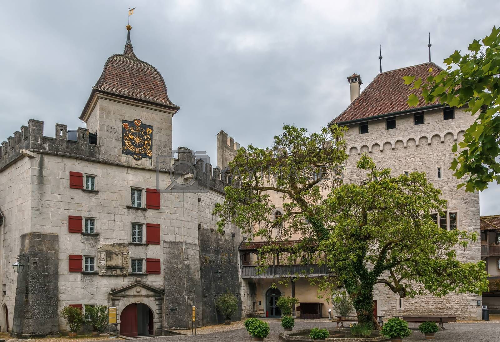 Lenzburg castle, Switzerland by borisb17