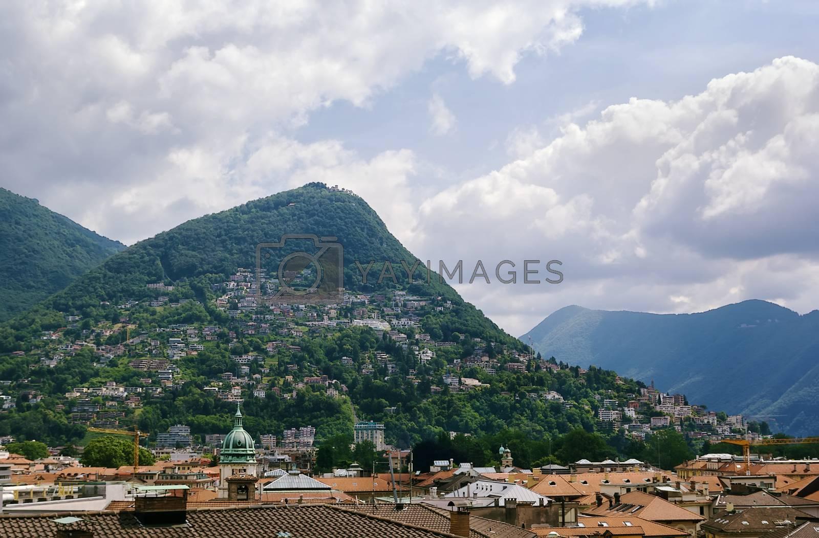 Monte Bre moutain, Lugano by borisb17