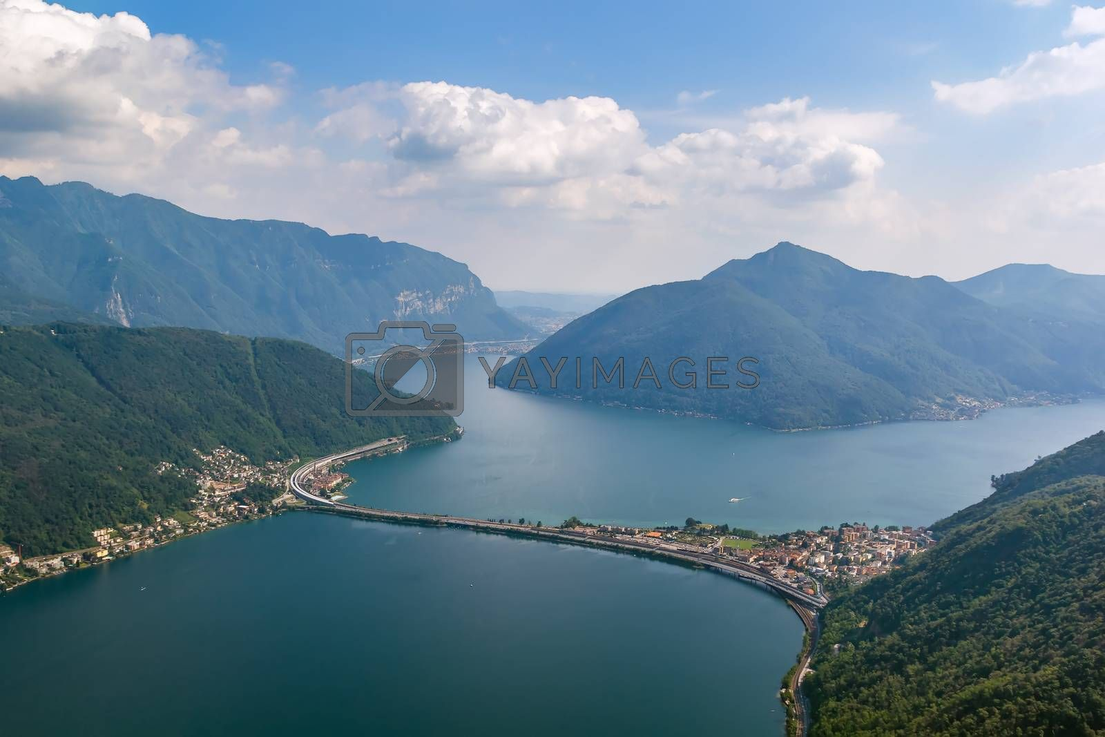 Lake Lugano, Switzerland by borisb17