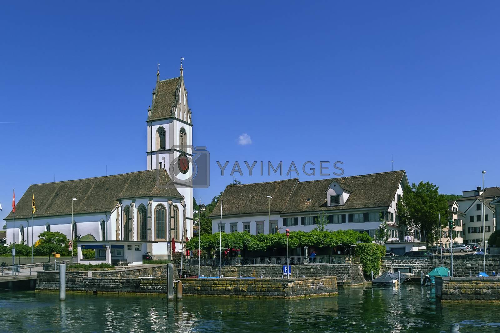 church on Zurich lake, Switzerland by borisb17