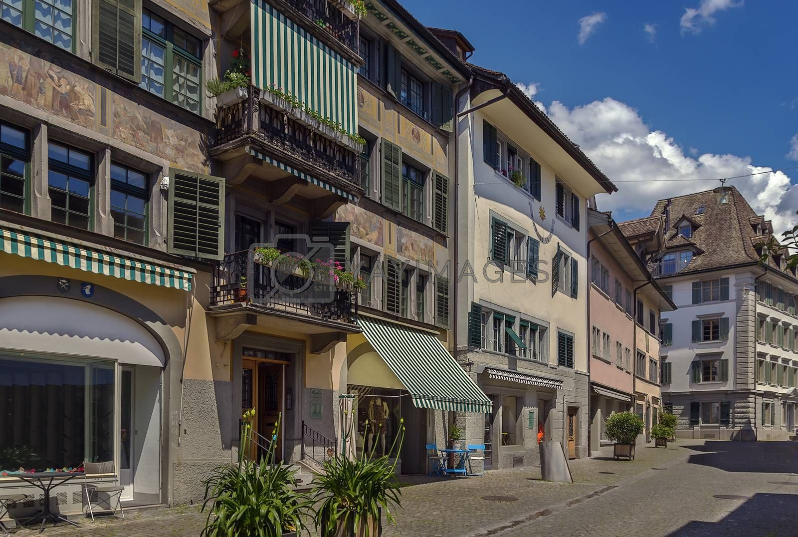 street in Rapperswil, Switzerland by borisb17