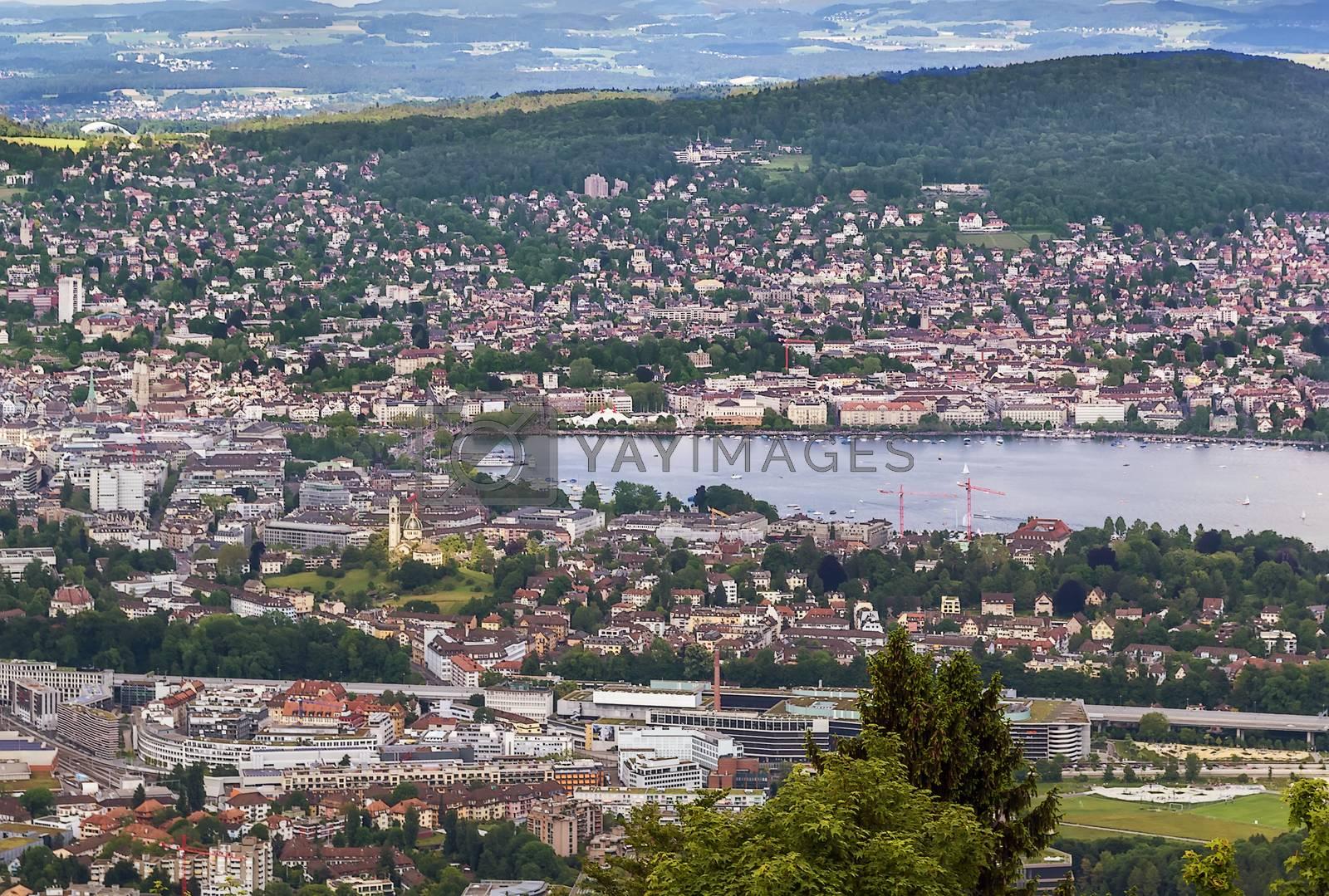 view of Zurich by borisb17