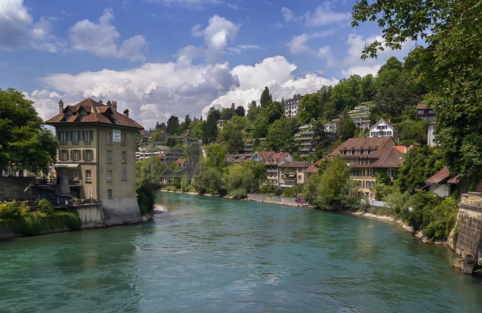 Aare river, Bern by borisb17