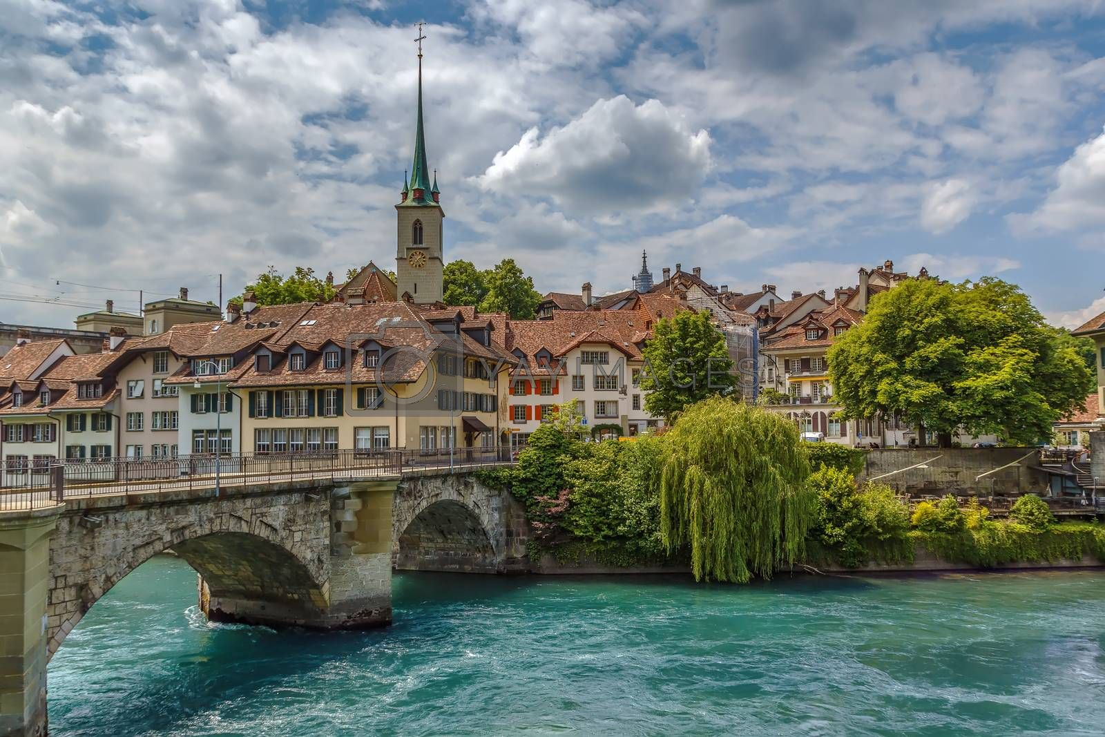 bridge over the Aare river in Bern, Switzerland by borisb17