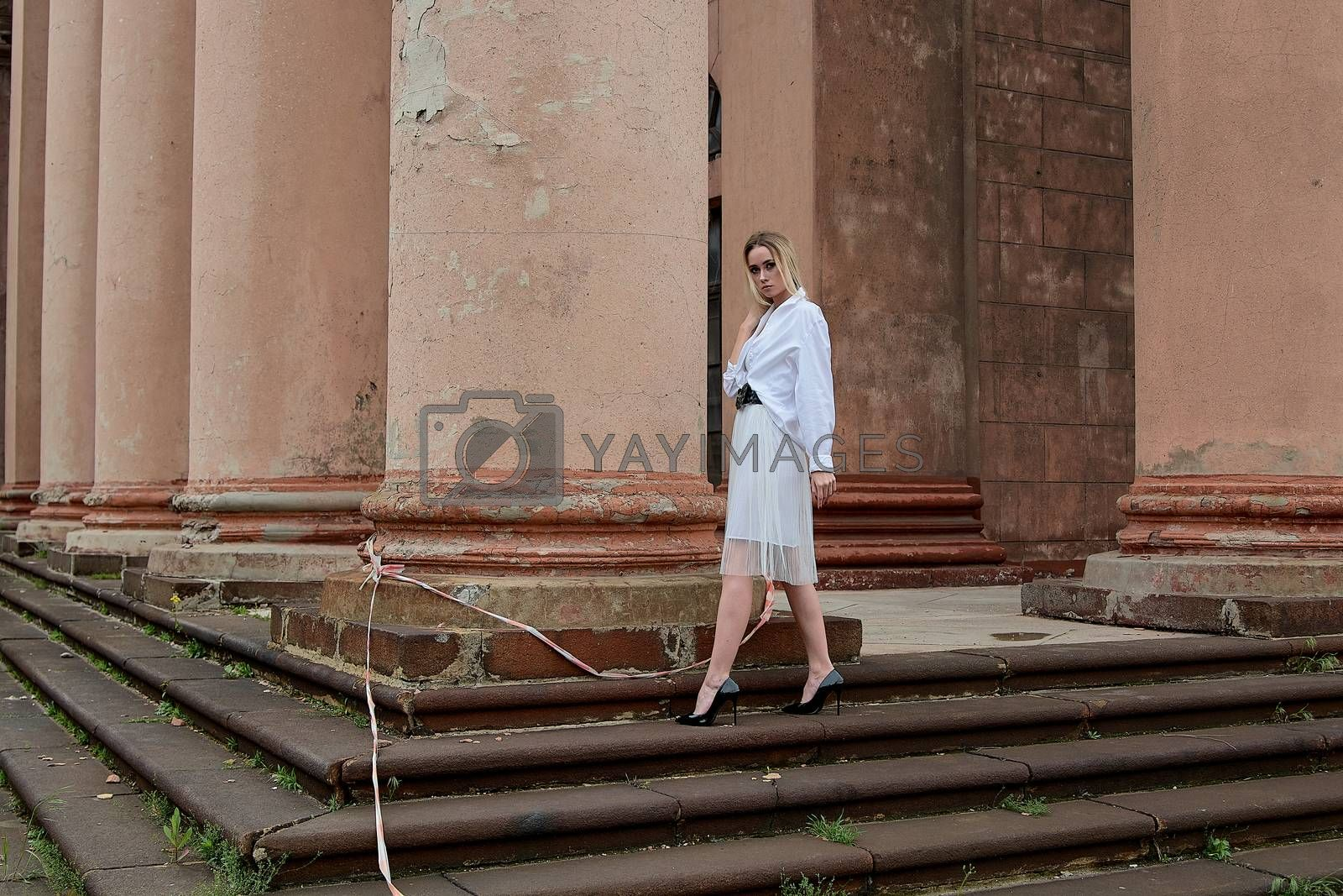 Fashion look's woman. Young woman modern portrait. by nixrenas