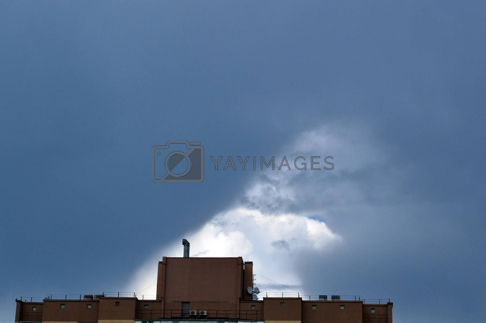 Clouds in the sky in clear weather by Prokopenko