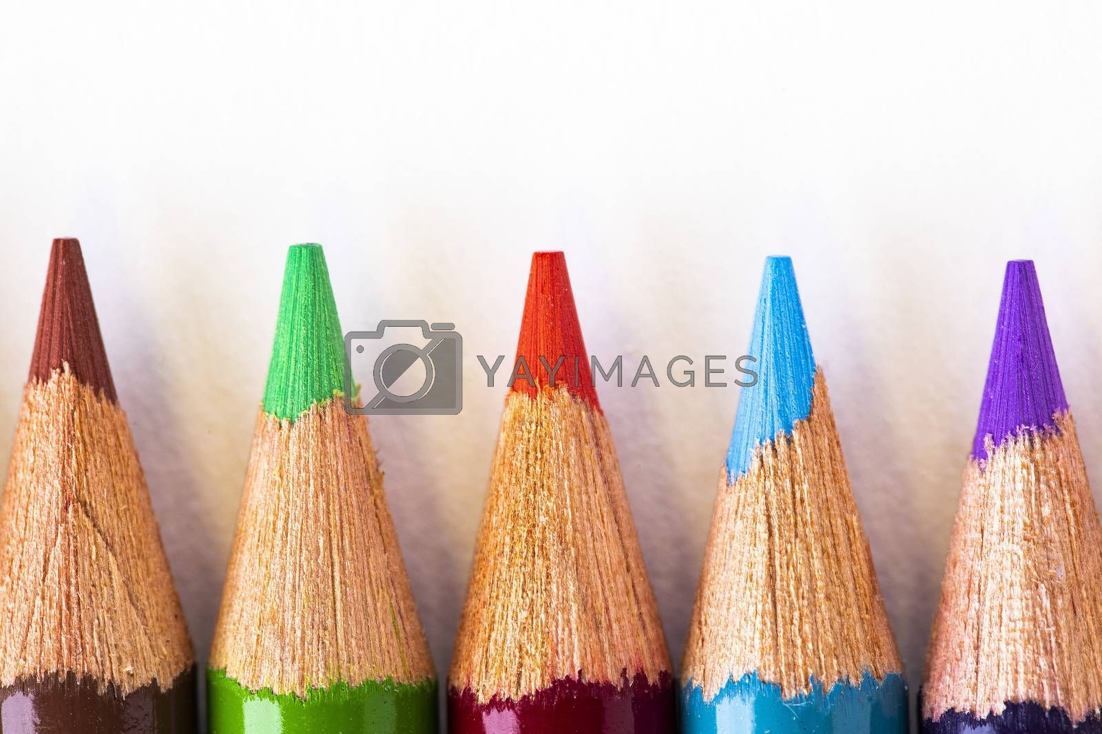 Colorful Pencil Points by Charlie Floyd