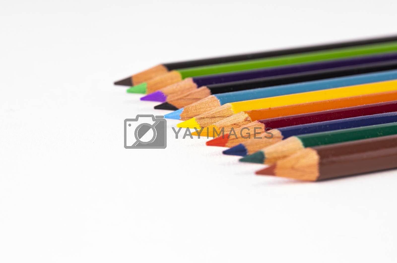 Colored Pencils with Selective Focus by Charlie Floyd